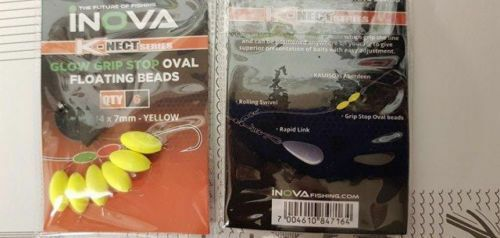 Inova K-Nect Series Oval Glow Stop beads - YELLOW